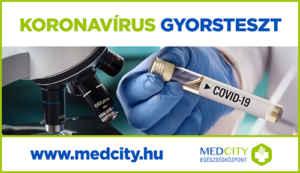 Koronavírus gyorsteszt plakát